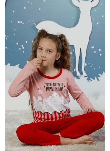 Siyah İnci Pamuklu Likralı Pijama Takım Renkli